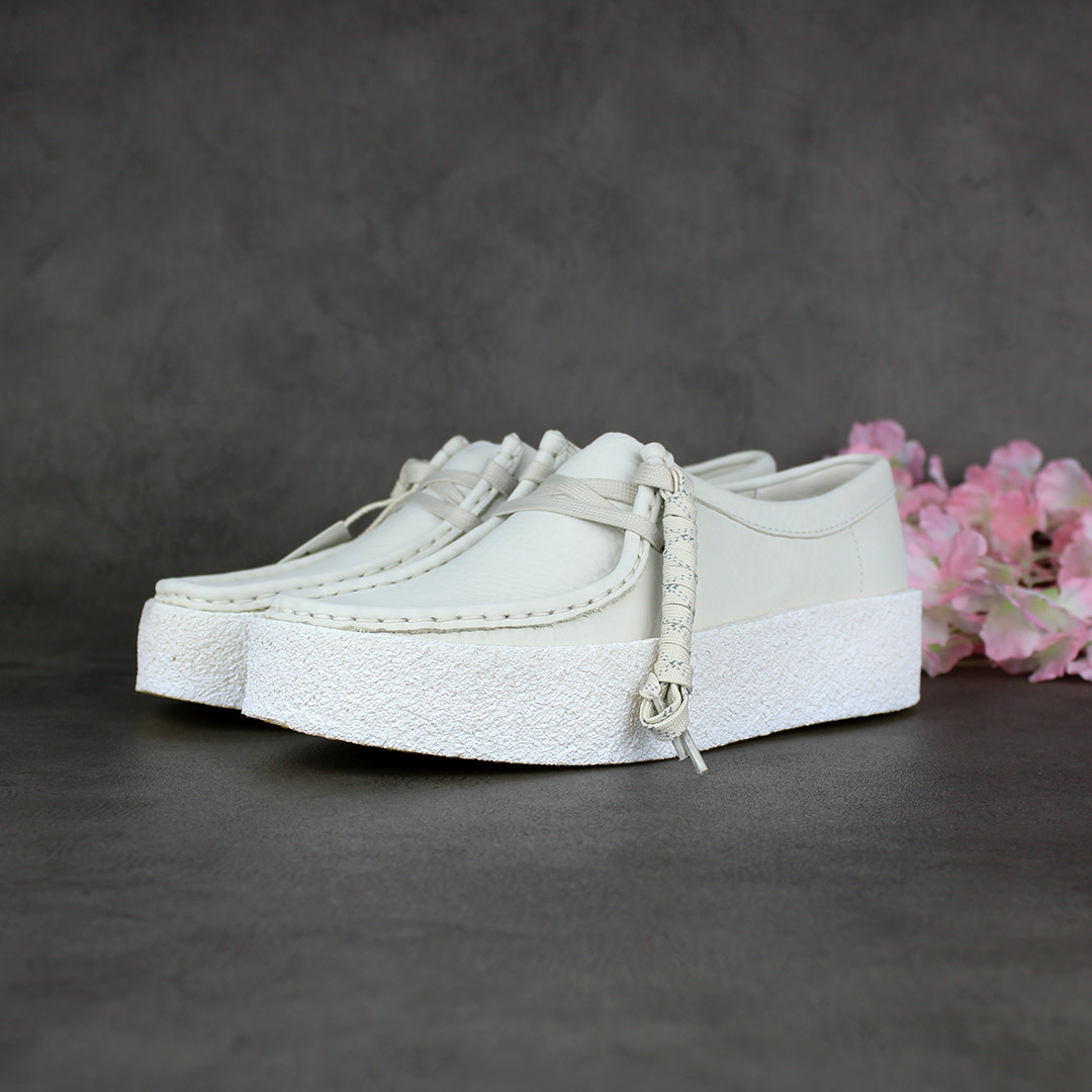 Clarks Wallabee Cup L (White) 261581524