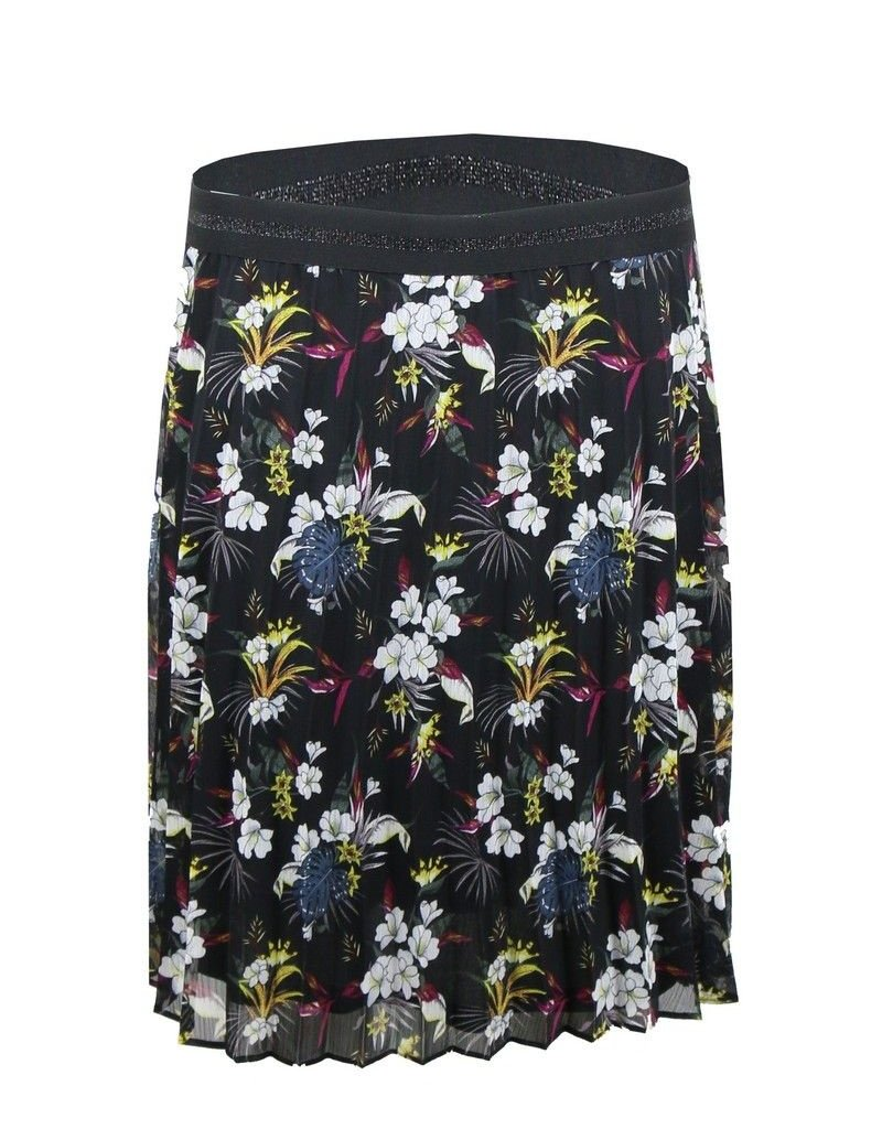 Ashley skirt flower black