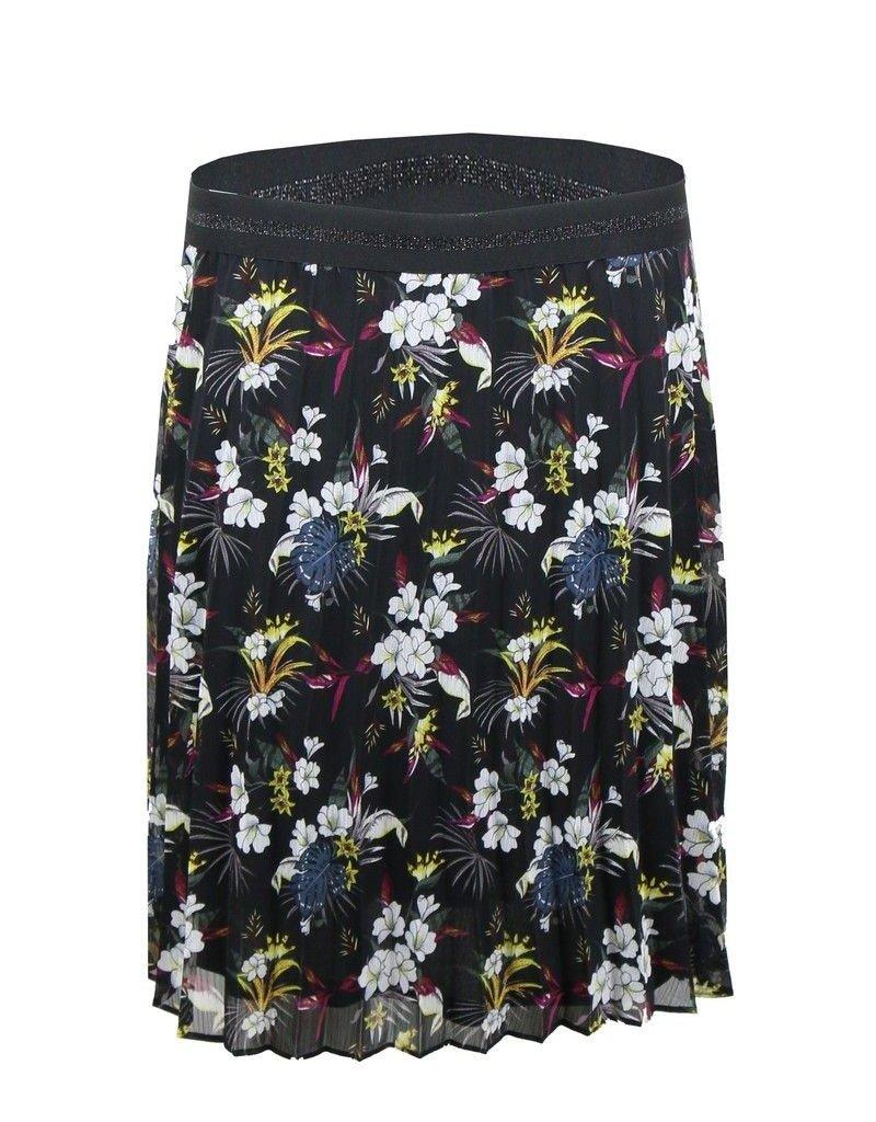 Ashley skirt flower black