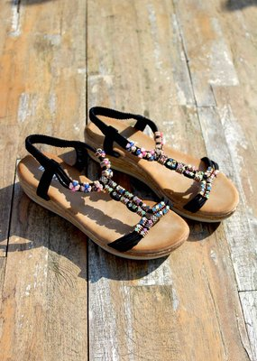 Jewel Sandals Black