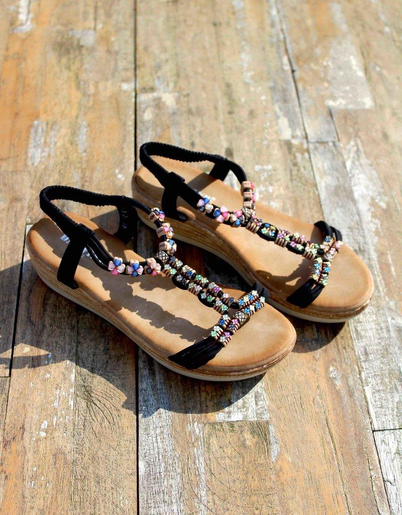 Jewel Sandals Black