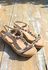 Jewel Sandals Beige