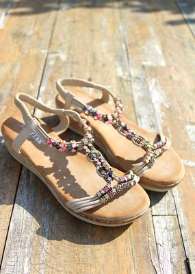 Jewel Sandals Beige
