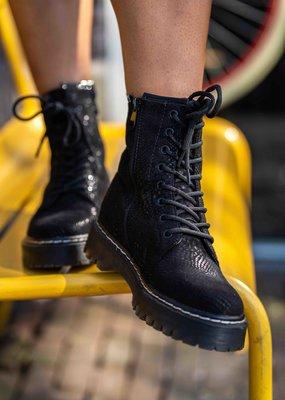 Boots slangenprint zwart