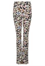 Flared broek luipaard color