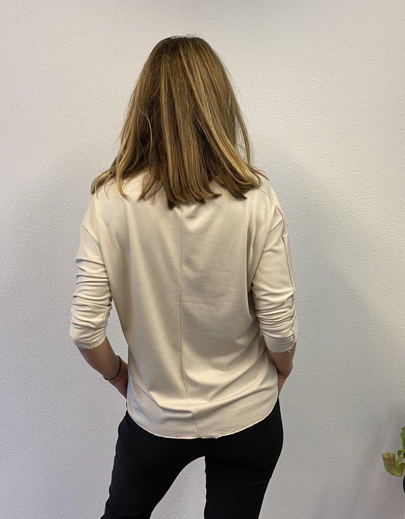 Basic V-hals shirt beige