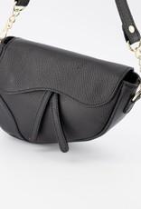 Klassieke zwart leren tas