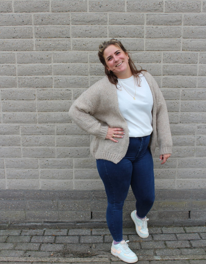 Beige vest | Leonie