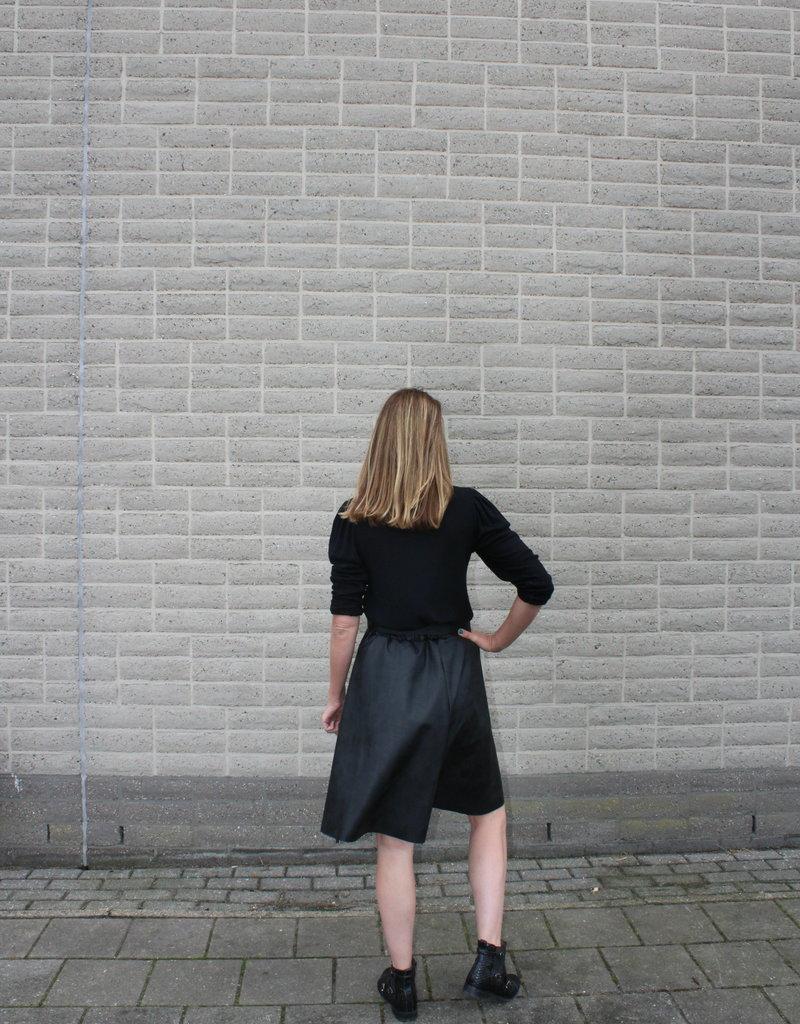 PU zwarte leren rok | Evi
