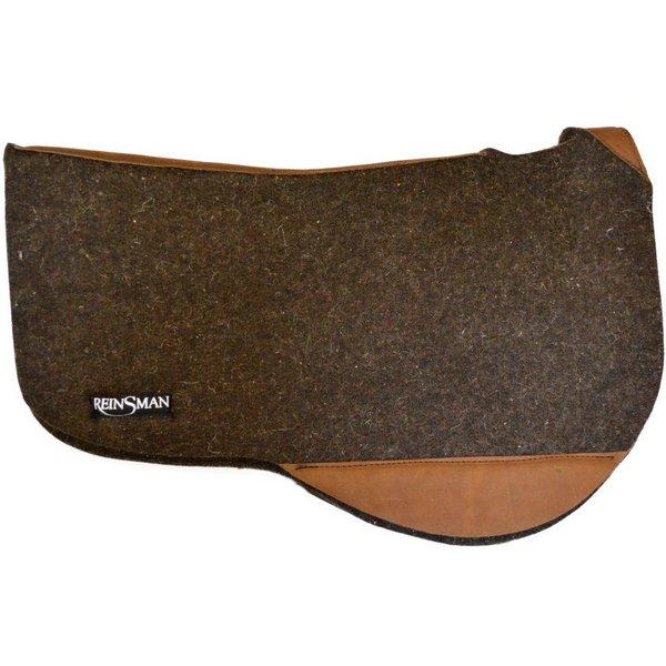 Reinsman dunkles roundskirt Pad aus 100% Wollfilz