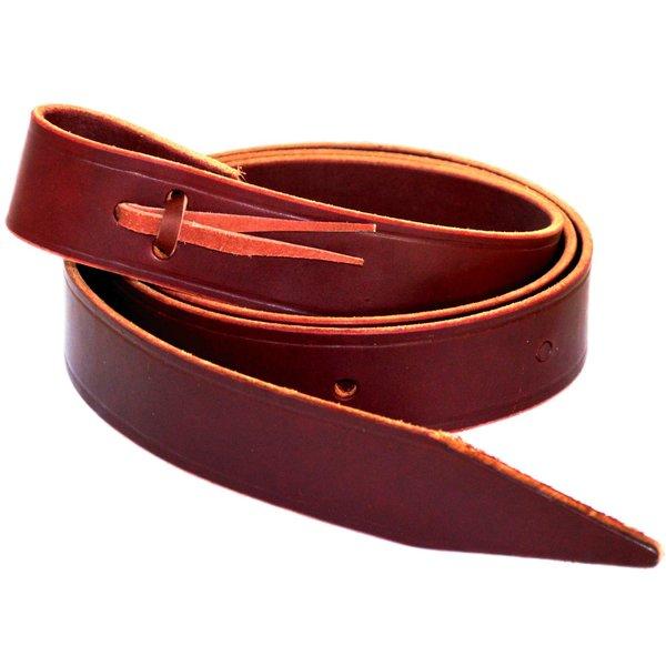 Latigo-Leder Tie Strap mit spitz zulaufendem Endstück.