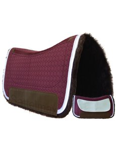 Mattes MATTES Square Westernpad, Lammfell,1-Taschen Correction, brombeer
