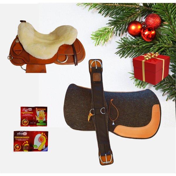 Horse Gear Geschenkpaket mit Westernpad aus Filz der Firma HORSE GEAR