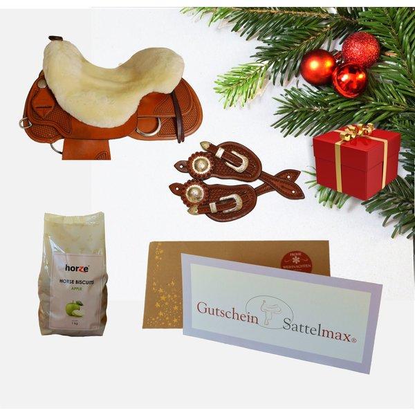Sattelmax Geschenkpaket mit Sattelmax Gutschein über 100 € und Sitzfell