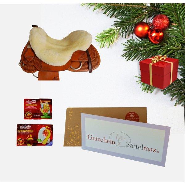 Sattelmax Geschenkpaket mit Sattelmax Gutschein über 75,00 € und Sitzfell