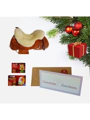 Sattelmax Gutschein Geschenkpaket mit Sitzfell und ThermoPads