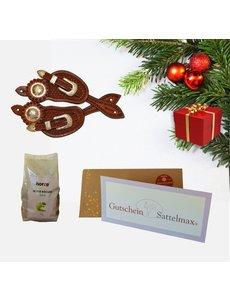 Sattelmax Gutschein Geschenkpaket mit Sporenriemen