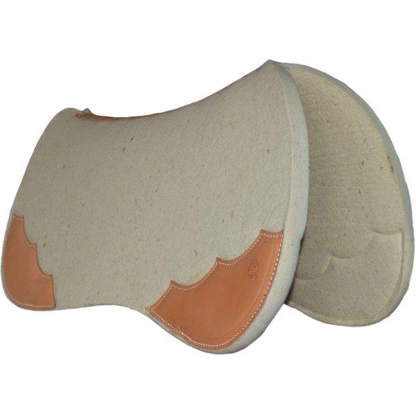 Horse Gear ProPad All Around Westernpad naturhell, Lederbesatz natur geölt