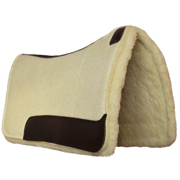 Professional Choice Westernpad aus gepresstem hochwertigem Filz, Unterseite mit Fell