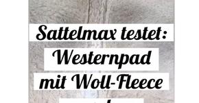 Erklärung: Wie reinigt man ein Westernpad mit Woll-Fleece Unterseite?