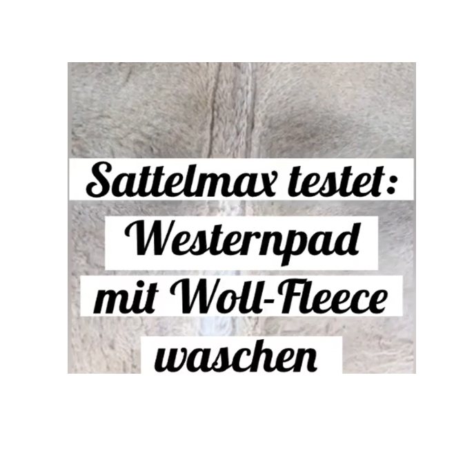 Westernpad reinigen mit Woll-Fleece Unterseite