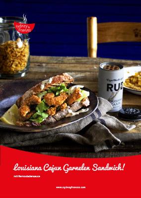 Sandwich Garnelen mit Louisiana Cajun - Rezept
