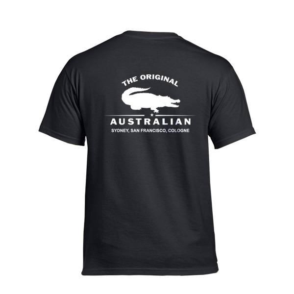 Original Australian T Shirt, Schwarz