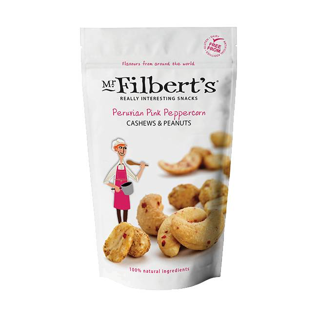 Mr. Filbert's Peruvian Pink Peppercorn Cashews and Peanuts 110g