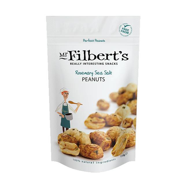Mr. Filbert's Rosemary Sea Salt Peanuts 110g