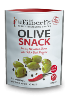 Mr. Filbert's Green Olives Chilli & Black Pepper 65g