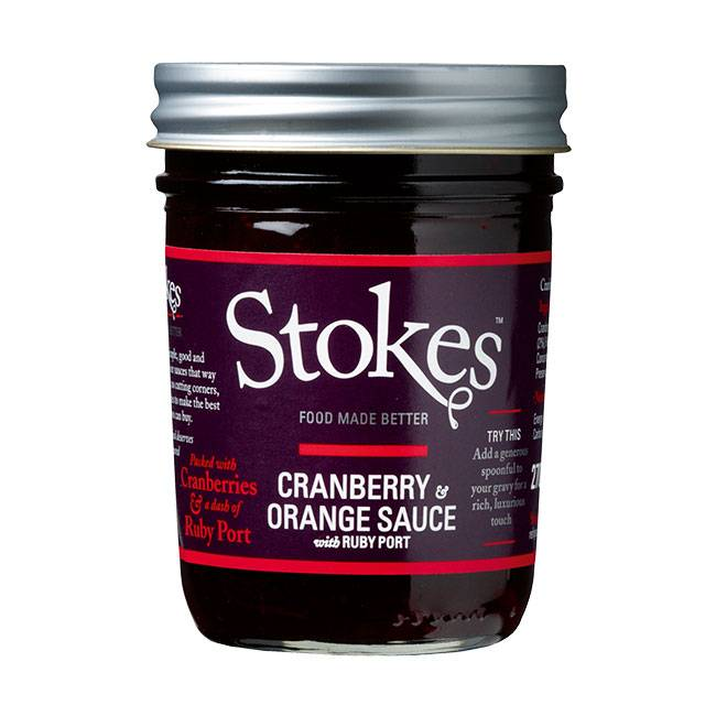 Stokes Cranberry & Orange Sauce with Ruby Port 270g