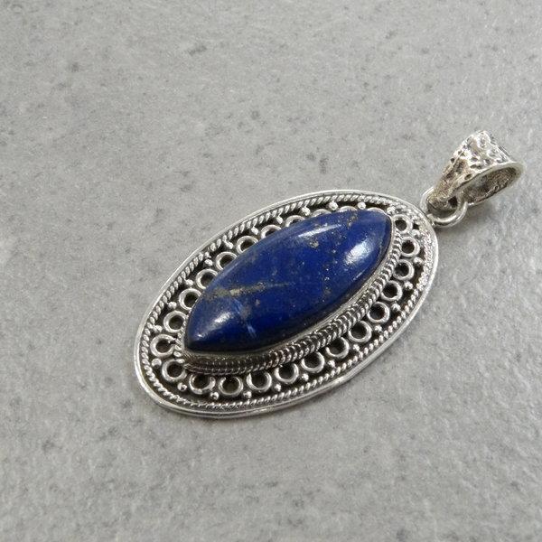 Lima lapis lazuli kettingbedel - 925 sterling silver