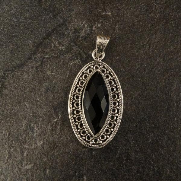 Lima onyx kettingbedel - 925 sterling zilver