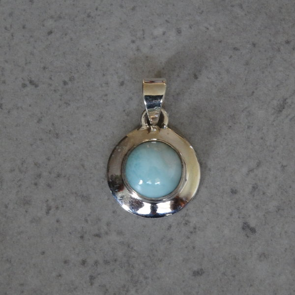Larimar kettingbedel - 925 sterling zilver