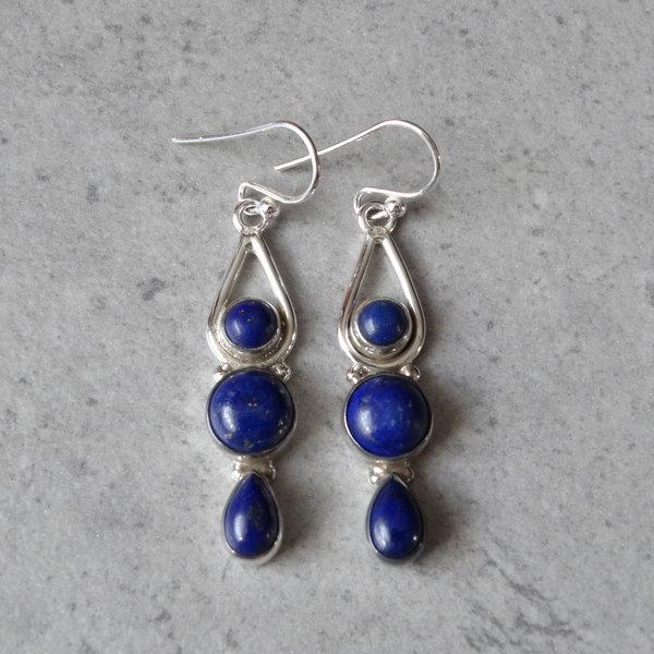 Lapis Lazuli oorbellen - 925 sterling zilver