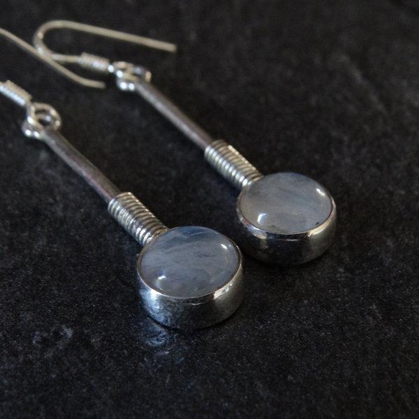 Maansteen oorbellen - 925 sterling zilver