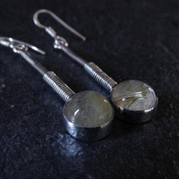 Citrien oorbellen - 925 sterling zilver