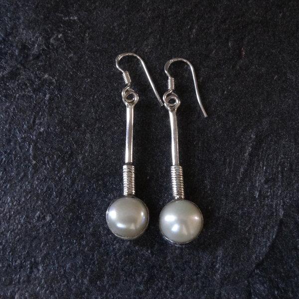 Parelmoer oorbellen - 925 sterling zilver