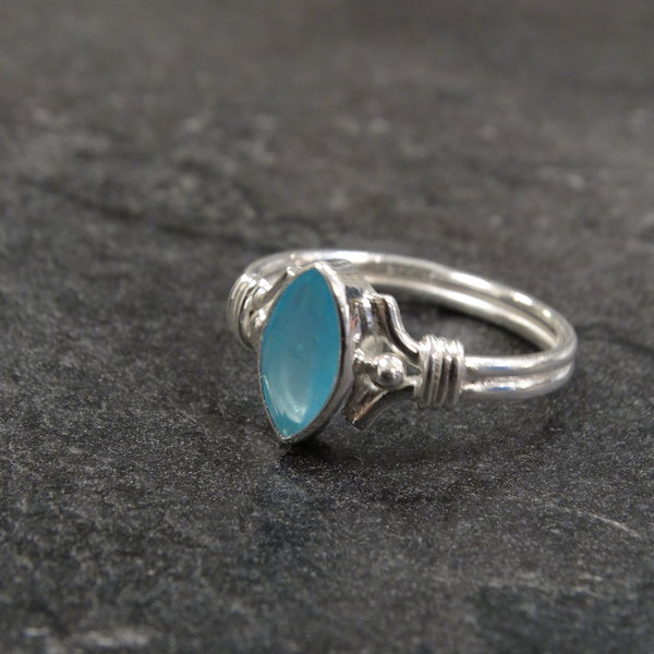 Agaat ring - 925 sterling zilver