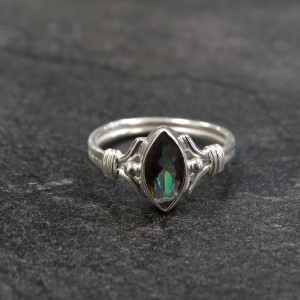 Mystic Topaas ring - 925 sterling zilver