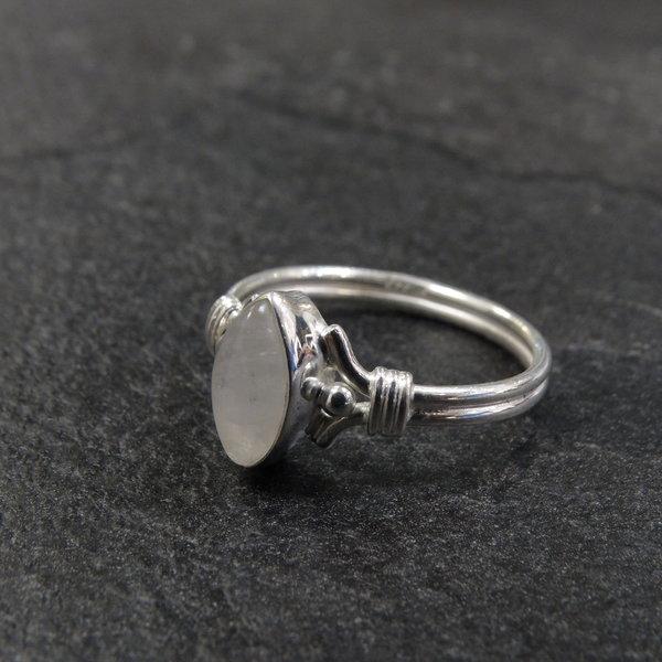 Maansteen ring - 925 sterling zilver