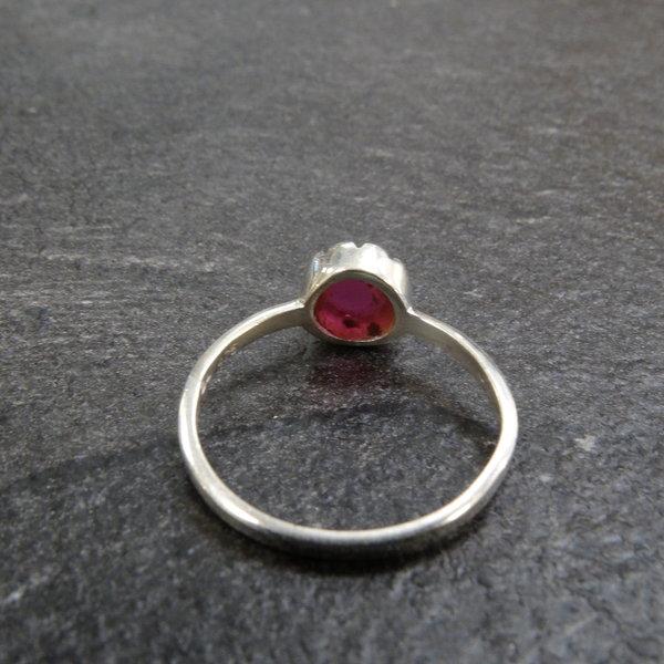 Robijn ring - 925 sterling zilver