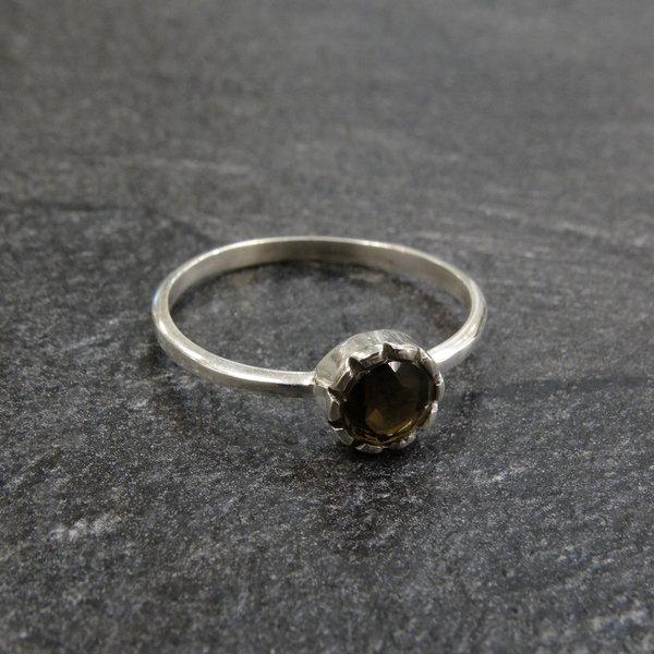 Rookkwarts ring - 925 sterling zilver