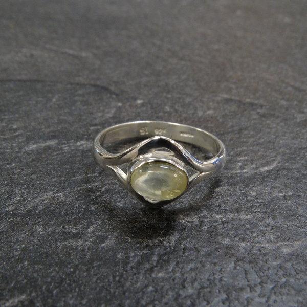 Groene jade ring - 925 sterling zilver