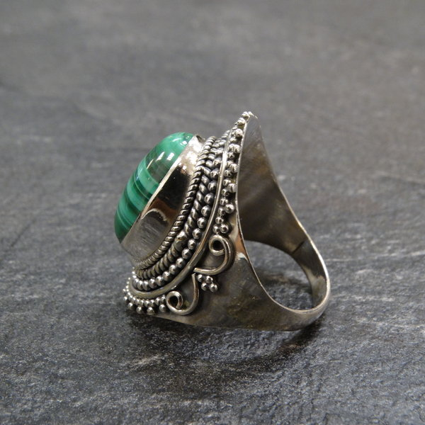 Malachiet ring - 925 sterling zilver