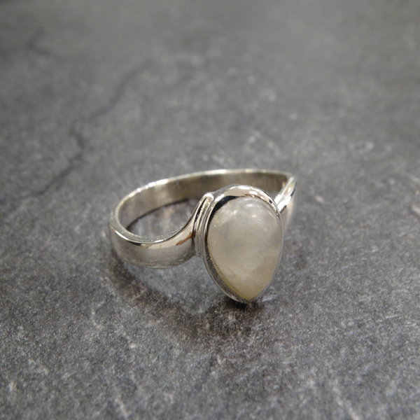 Maansteen ring - 925 sterling zilver