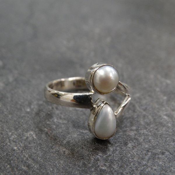 Parelmoer ring - 925 sterling zilver