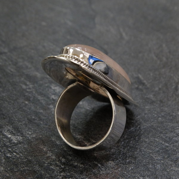 Rozenkwarts ring - 925 sterling zilver