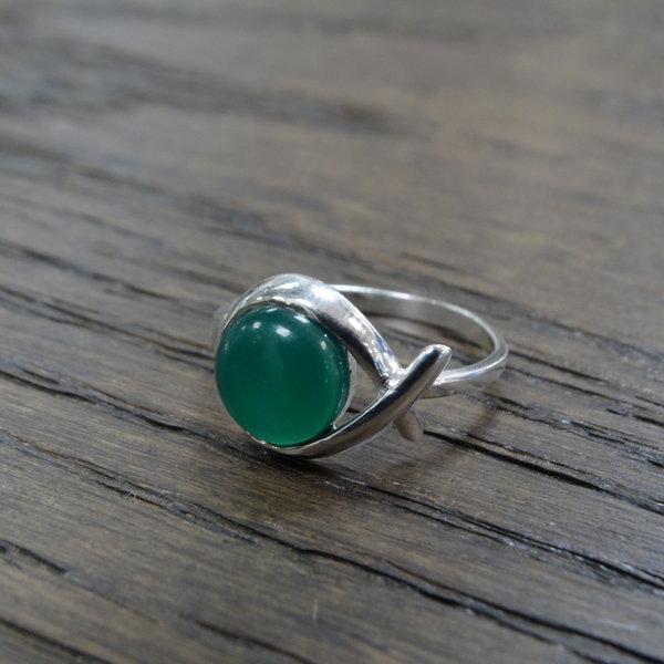 Aventurijn ring - 925 sterling zilver