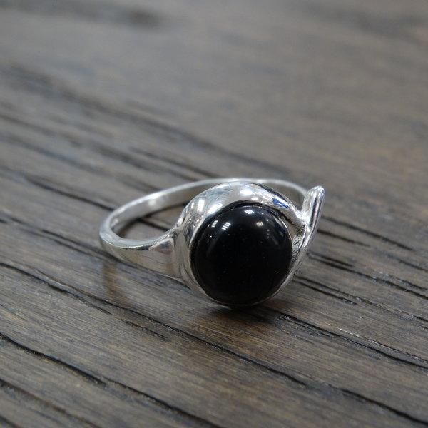 Onyx ring - 925 sterling zilver